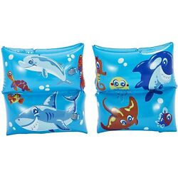 Floaties Swimming Arm Bands Water Wings Kids Play Day - Inflatable Blue OR Pink*