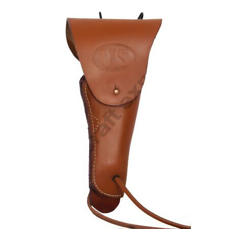 img-US WW2 Leather Belt Holster Colt 1911 Government Leather Holster-TAN