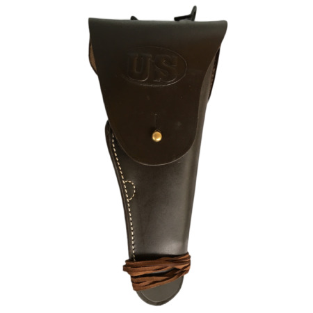 img-US ARMY LEATHER M1916 COLT .45 PISTOL HOLSTER M1911-DARK BROWN