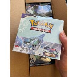 Chilling Reign Booster Box Pokemon TCG Sword & Shield SEALED AUTHENTIC 36 PACKS