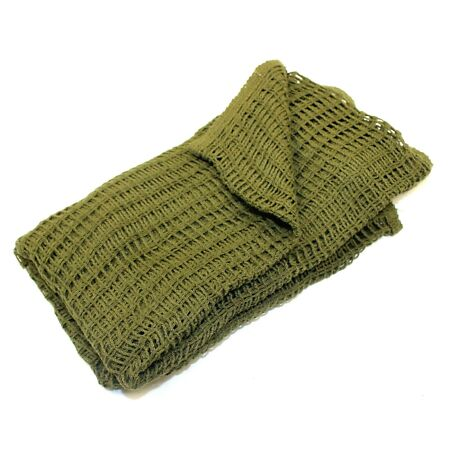 img-GENUINE BRITISH ARMY SCRIM NET SCARF in OLIVE GREEN APPROX 4.5FT X 4.5FT