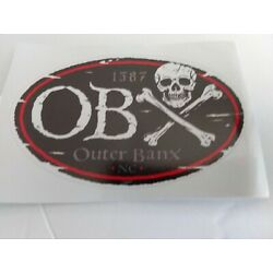 OBX Outerbanx NC 1587 Vinyl Decals Stickers
