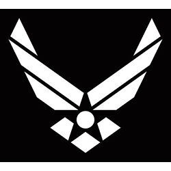 AIR FORCE LOGO STICKER DECAL USAF ARMED FORCES