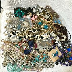 Lot J1 Vintage & Costume Jewelry Lot Including Signed and Unsigned 4.25 Lbs