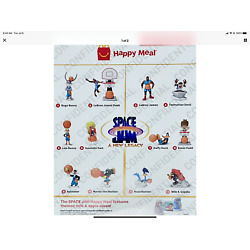 2021 McDonalds Space Jam Legacy Happy Meal Toys complete set of 12