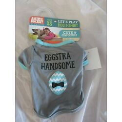 Animal Planet Pets Dog T Shirt ''Eggstra Handsome'' Size XS NWT Easter  NEW