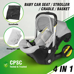Infant Car Seats Stroller Combos 4 in 1 for newborn, light weight for travel