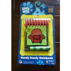 1998 Blue's Clues Handy Dandy Notebook Steve Thinking Chair FACTORY SEALED NOS