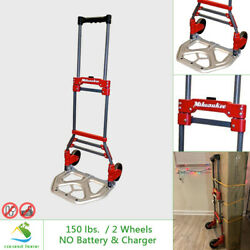 Milwaukee Fold-up Hand Truck Dolly 150 lb. Capacity Moving Portable Extendable