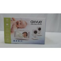 Video Baby Monitor with Two Cameras and Wide Screen Auto-Switch Camera Viewing