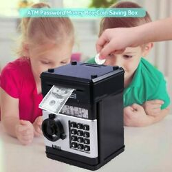 Electronic Piggy Bank ATM Password Money Coin Automatic Safe Saving Box Kid Gift