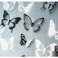 Wall Stickers 3D Crystal Creative Creative Butterfly Home Kids Room Decoration