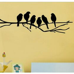 Removable Wall Sticker for Living Room Wall Decals Black Birds Art Stickers