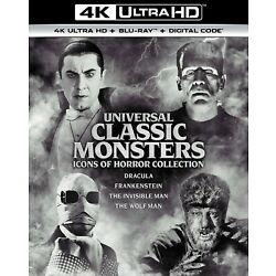 Universal Classic Monsters Icons of Horror Collection 4K UHD Blu-ray  NEW