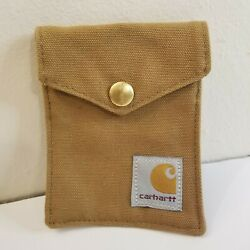 Carhartt Brown Utility Pouch,  Promotional Item For Hand Warmer, 4''x3'' Approx.