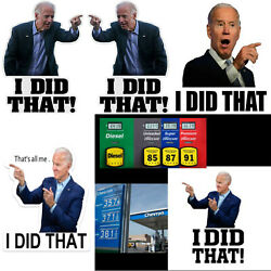 30/50/100 Joe Biden I DID THAT THAT'S ALL ME Sticker Humor Funny Stickers Decal