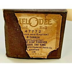 Melodee Player Piano Roll ~ 47772 ~ O Canada~ Maple Leaf Forever ~ Save The King