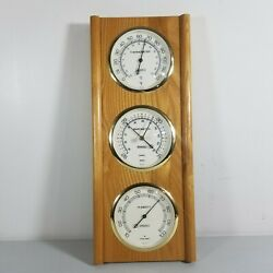 Vintage Springfield Weather Station Barometer Thermometer USA