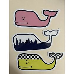 vineyard vines whale stickers - Set of 3