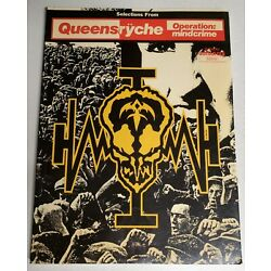 QUEENSRYCHE OPERATION MINDCRIME GUITAR TAB TABLATURE SONGBOOK SHEET MUSIC BOOK