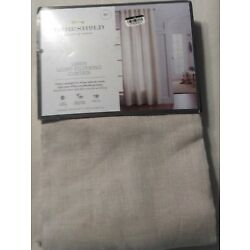 95 x 54 Threshold Linen Light Filtering Curtain Panel Natural - One Panel
