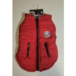 LuvGear Protect Me Alert Series Medium Red Lined Dog  Jacket Cold Alert Tech M