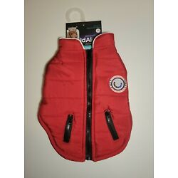 LuvGear Protect Me Alert Series Small Red Lined Dog Jacket Cold Alert Tech S