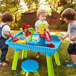 Sand and Water Table Outdoor Toys Childrens Activity Table Sandbox Toy