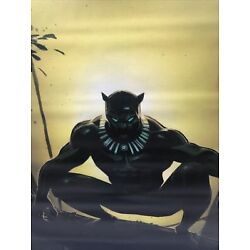 Pottery Barn Teen Marvel s Black Panther Wall Mural 32x48in, Free Shipping