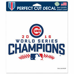 Chicago Cubs World Series Champions 8 x 8 Perfect Cut Color Decal