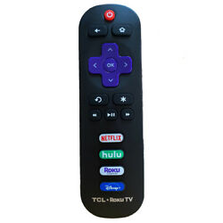 New Genuine RC280 For TCL Roku TV Remote Control With NETFLIX HULU Roku Channel