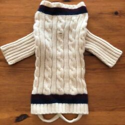 RALPH LAUREN Dog Sweater Cable Knit UNUSED Dog Clothes F/S From JAPAN