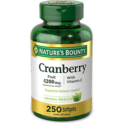 Cranberry Pills w/ Vitamin C by Nature's Bounty, Supports Urinary & Immune 250