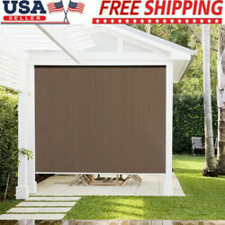 71'' Patio Porch Deck Outdoor Roller Blind Sun Shade Roll Up Exterior Protection