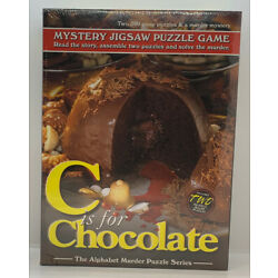 C is for Chocolate Alphabet Mystery Puzzle & Booklet Two 500 Piece Puzzles New