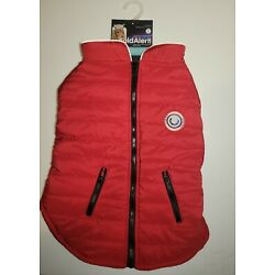 LuvGear Protect Me Alert Series XLARGE Red Lined Dog  Jacket Cold Alert Tech XL