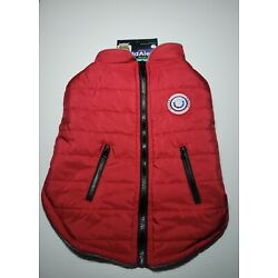 LuvGear Protect Me Alert Series LARGE Red Lined Dog  Jacket Cold Alert Tech L