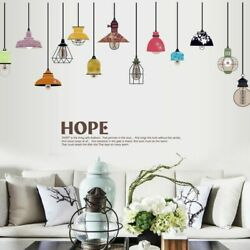 Wall Sticker Drooping Light Lamp Removable Decal Mural Bedroom Dining Room Decor