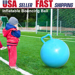 Kids Body Exercise Toy Jumping Hop Ball Pure Color Inflatable Bouncing Ball G5N3