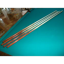 Four Brand New One Piece Pool Cues sticks Bar House Maple 4-Prong inlay 57''inch