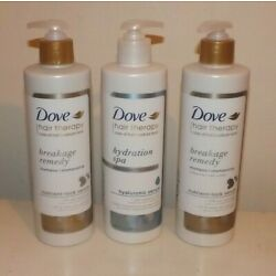 DOVE HAIR THERAPY 2 BREAKAGE REMEDY SHAMPOO & 1 HYDRATION SPA CONDITIONER
