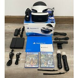 PS4 VR Bundle Headset CUH-ZVR1 PlayStation 4 W/ Sealed Game & Demo Game