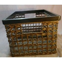 Woven Bamboo Basket With Built in Handles 8'' X 10'' X 11.5''