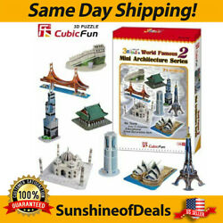 CubicFun 3D Puzzle World Famous Mini Architecture Series 2 - NEW SEALED IN BOX!