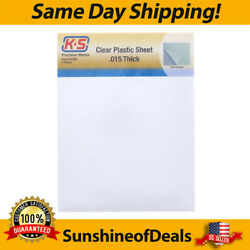 K & S ENGINEERING 1308 .015 CLEAR PLASTIC 8.5X11 SHEET 2 PACK BRAND NEW!