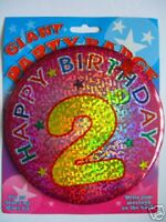 Giant Party Badge - Happy 2nd Birthday               AA
