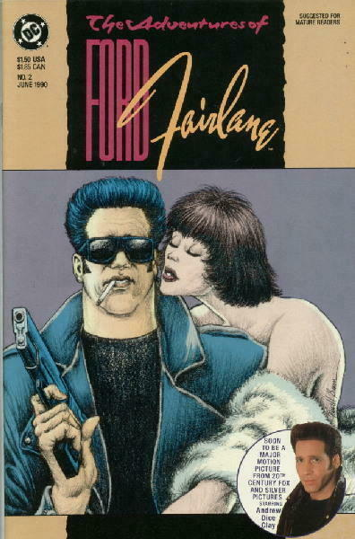 adventures of ford fairlane movie comic 2 d c 1990 near mint ebay. Cars Review. Best American Auto & Cars Review