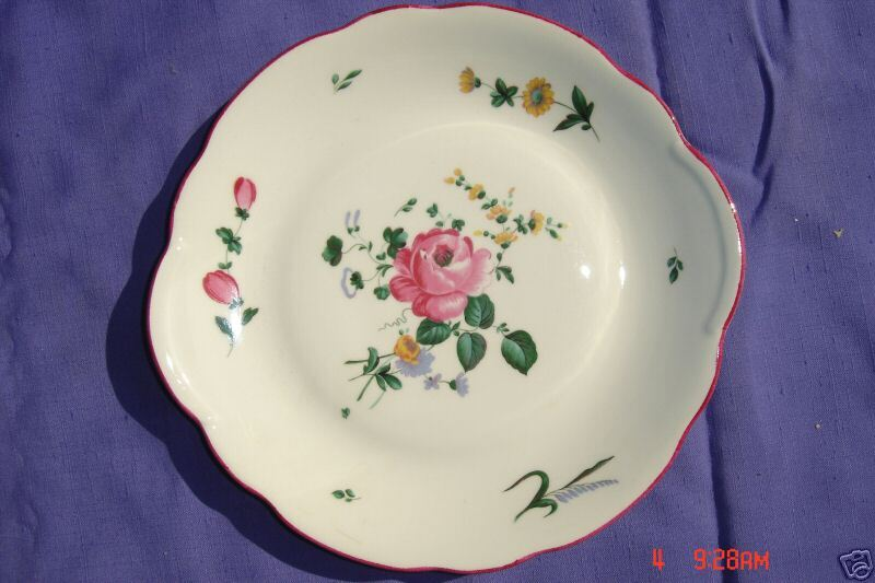 veritable porcelaine de france f d chauvigny 11 inch cake plate ebay. Black Bedroom Furniture Sets. Home Design Ideas
