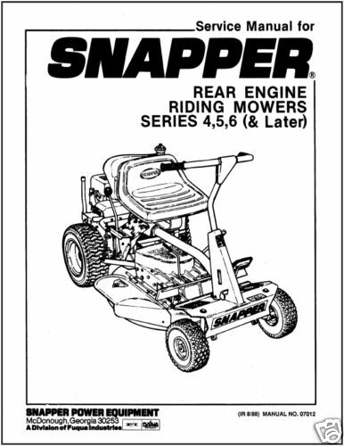 snapper rear engine riding mower parts  snapper  free