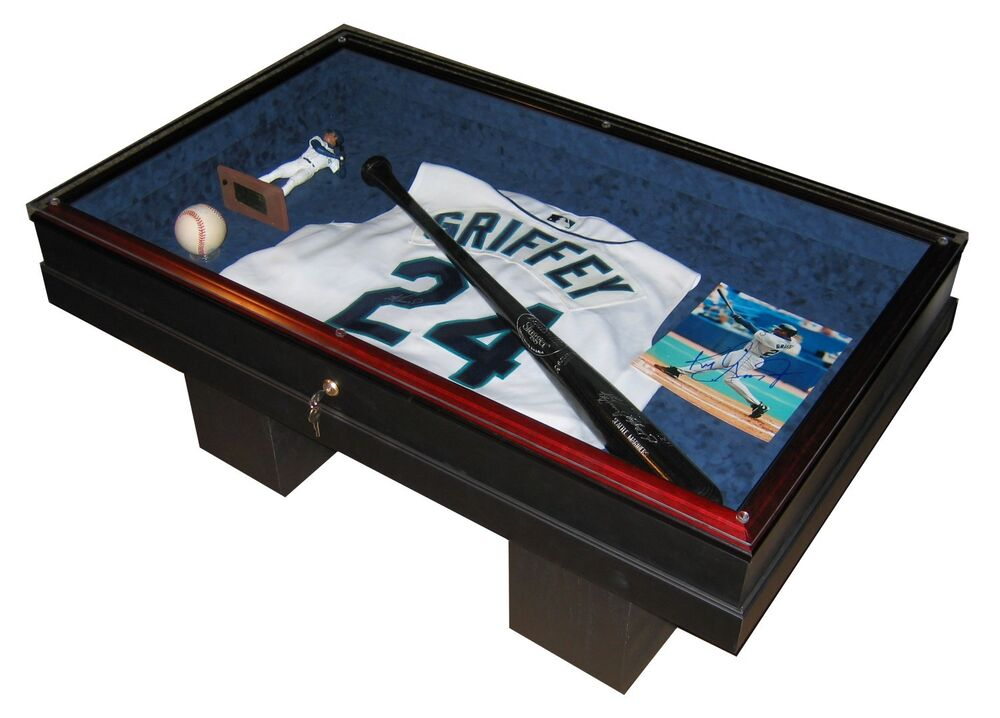COFFEE TABLE SPORTS DISPLAY CASE THE WORKMANSHIP IS SECOND TO NONE